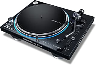 Denon DJ VL12 PRIME | Professional Turntable with True Quartz Lock & RGB LED Light Ring