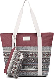 ArcEnCiel Canvas Tote Womens Shoulder Handbag with Purse