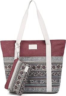 ArcEnCiel Canvas Tote Womens Shoulder Handbag with Purse