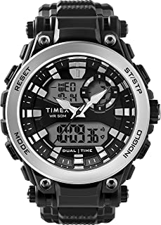 Timex Resin Strap Analog Digital Watch For Men, 50mm