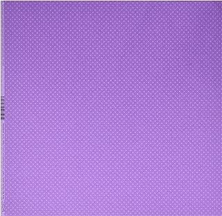 Bazzill Basics Paper Artemio Lot de 25 Feuilles Violet à Pois pour Scrapbooking Grape Jelly