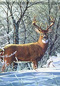 Carson Home Accents Winter Whitetail Trends Classic Garden Flag