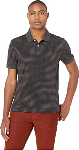 Short Sleeve All Over Jacquard Polo