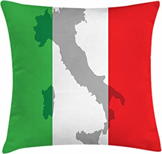 italian flag pillow