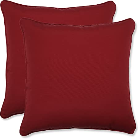 Pillow Perfect 498522 Outdoor Indoor New Geo Throw Pillows 18 5 X 18 5 Red 2 Pack Home Kitchen