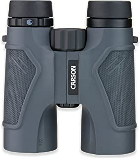 Carson 3D Series High Definition Full Sized and Compact Waterproof Binoculars, Black