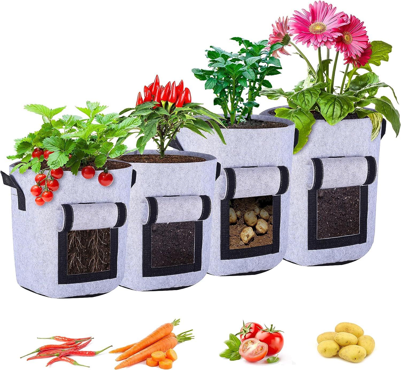 Max 80% 40% OFF Cheap Sale OFF KAJIABELL Growing Pots for Plants Gallon 710 - Garden