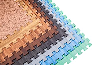 Incstores – Premium Soft Wood Interlocking Foam Tiles (2'x2') –..
