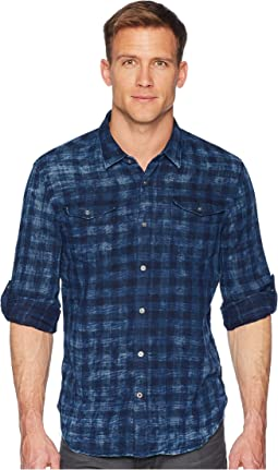 John Varvatos Star U.S.A. - Long Sleeve Roll-Up Sportshirt with Chest Pockets W536U1B