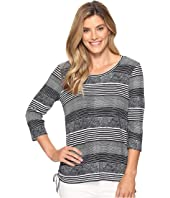 FDJ French Dressing Jeans - Hazy Stripe Scoop Neck Top