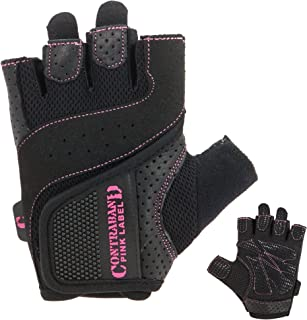 5137 Womens Padded Weight Lifting Gloves w/Grip-Lock Padding (Pair) - Machine Washable Fingerless Workout Gloves Designed Specifically for Women - Contraband Sports