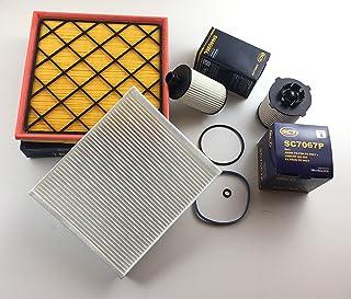 Ölfilter Luftfilter Pollenfilter Kraftstofffilter Cruze J300 2.0 CDI 120KW 163 PS