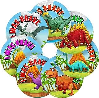 I was Brave Doctor Adorable Dinosaurs Reward Sticker Labels, 12 Stickers @ 2.5