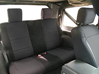 Coverking SPC202 Custom Fit Seat Cover for Jeep Wrangler JK 2-Door - (Neoprene, Solid Black)