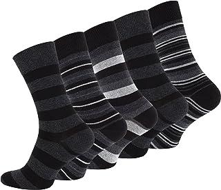 Vincent Creation Lot de 10 paires de chaussettes pour hommes, vêtements décontractés, STRIPES, avec du coton riche