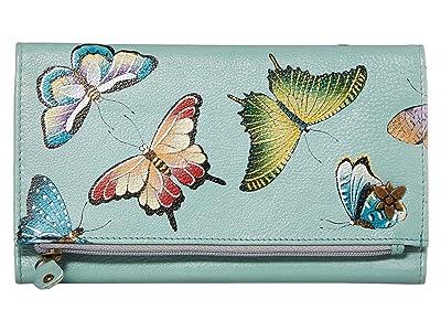 Anuschka Handbags 1136 Three Fold Clutch (Butterfly Heaven) Handbags