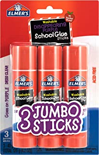 Elmer's Glue Stick (E579), Disappearing Purple, 3 Sticks