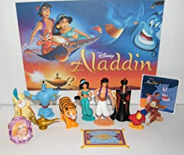 Playful Toys WDW Aladdin Movie Deluxe Figure Set of 12 Toy Kit with PrincessRing, Special Sticker and 10 Figures Featuring Aladdin, Jasmine, Jafar and Even The Magic Lamp and Flying Carpet!