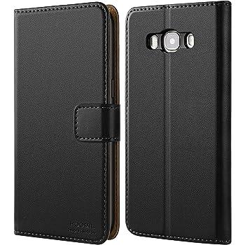 HOOMIL Handyhülle für Samsung Galaxy J5 2016 Hülle, Premium PU Leder Flip Schutzhülle für Samsung Galaxy J5 2016 Tasche (Schwarz)