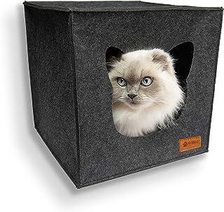 Domek dla kotów z filcu z antypoślizgowym dnem, pojemnik n
