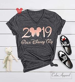 Girls Trip 2019 Shirts, Ladies Matching Vacation Shirts, Women's Summer Muscle Workout Racerback Tank Tops