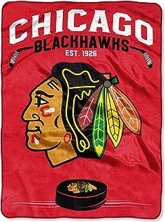 Northwest NHL Chicago Blackhawks 60x80 Raschel Inspired DesignBlanket, Team Colors, One Size