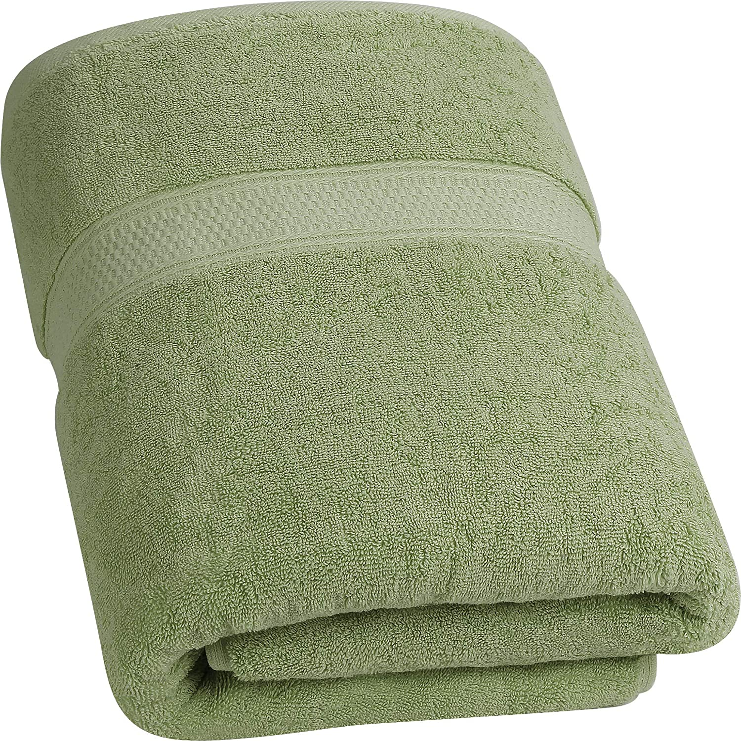 Utopia Towels - Luxurious Jumbo Bath Sheet (35 x 70 Inches, Sage Green) - 700 GSM 100% Ring Spun Cotton Highly Absorbent and Quick Dry Extra Large Bath Towel - Super Soft Hotel Quality Towel