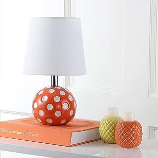 Safavieh Kids Lighting Collection Polka Dot Orange and White Mini Table Lamp