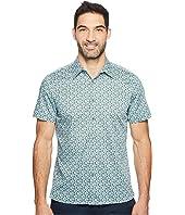 Perry Ellis - Short Sleeve Micro Multicolor Floral Shirt
