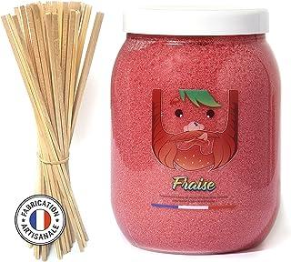 AVAGE - Sucre Barbe A Papa KIT 1,300 Kg FRAISE + 50 bâtons offerts / Pour Machine Enfant et Professionnel / Confiseries Ar...