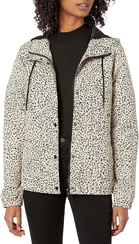Volcom Women's Enemy Stone Hooded Zip Front Windbreaker Jacket (Regular & Plus Size)