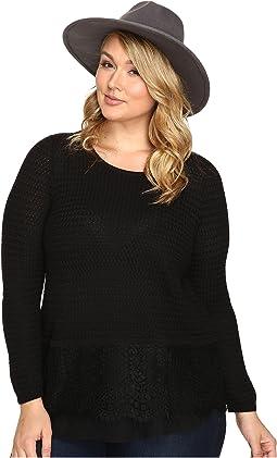 Plus Size Lace Mix Sweater