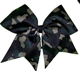 Cheer Bows Full Camo Camouflage Military Support Hair Bow
