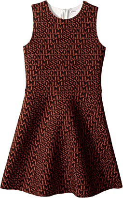 Printed Neoprene Logo Dress (Big Kids)