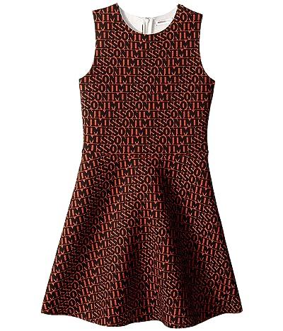 Missoni Kids Printed Neoprene Logo Dress (Big Kids) (Brown/Black) Girl