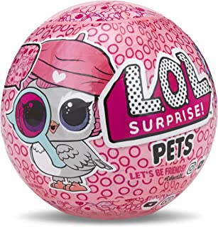 L.O.L. Surprise! 30297 L.O.L LOL Surprise Fuzzy Pets Ball-Makeover Figurine, Pink, One Size