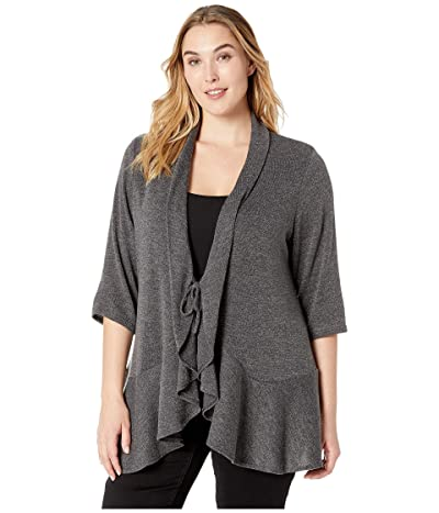 Kiyonna Love Story Cardigan (Glitzy Grey) Women