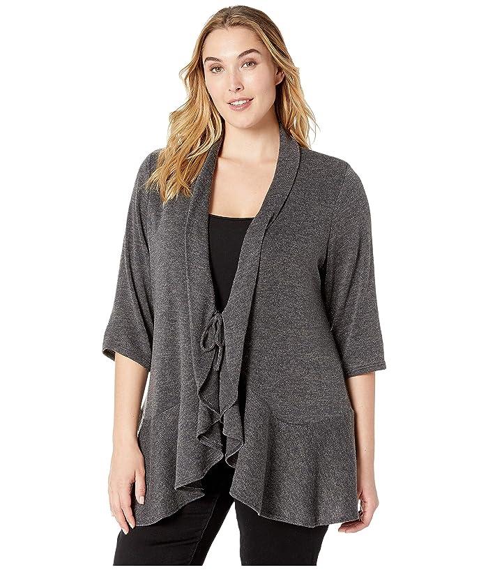 Kiyonna Love Story Cardigan (Glitzy Grey) Women's Sweater