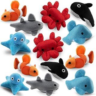 "Bedwina Plush Sea Animals for Kids - (Pack of 24) 3"" Mini Stuffed Animal Toys | Sea Life Creatures Clownfish, Crab, Orca, ..."