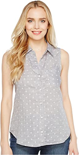 Double Cloth Sleeveless Dots