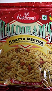 Haldiram's Khatta Meetha (Sweet-n-spicy) Mix of Chickpeas Flour Noodles,Rice flakes, Green Peas & Peanuts - 35.30oz, 1kg