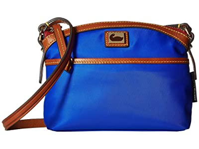 Dooney & Bourke Camden Domed Crossbody (French Blue/Dark Chocolate Trim) Cross Body Handbags