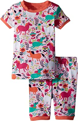 Hatley Kids Roaming Horses Short Pajama Set (Toddler/Little Kids/Big Kids)