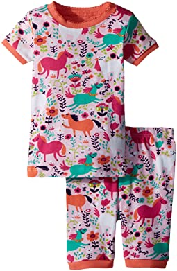 Roaming Horses Short Pajama Set (Toddler/Little Kids/Big Kids)