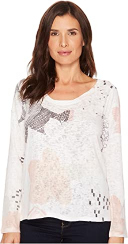 Nally & Millie Peach Print Top