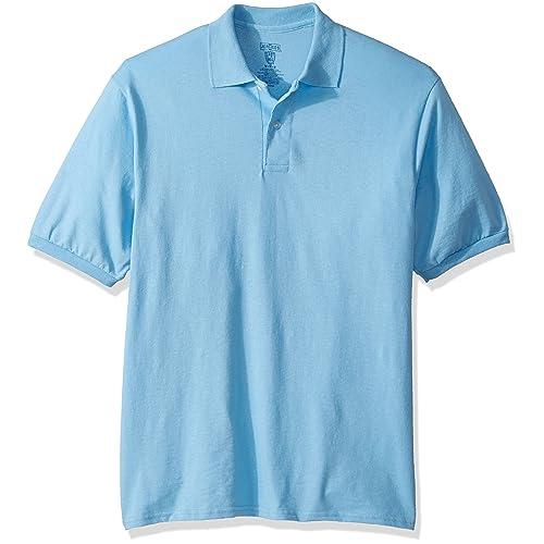 25c91e193c340 Jerzees Men s Spot Shield Short Sleeve Polo Sport Shirt