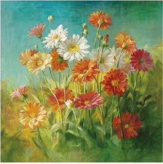 Trademark Fine Art Painted Daisies by Danhui NAI, 18x18