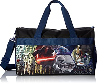 Star Wars SWDUF Ep7 600D Polyester Duffle Bag with Printed PVC Side Panels, Blue