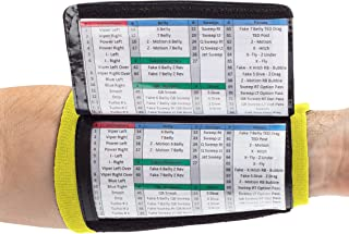 WristCoaches QB Wrist Coach - Playbook Wristband (Youth) - Heavy Duty Football Wristbands for Boys with Three Playsheet Compartments - Perfect for Flag Football and Tackle Football