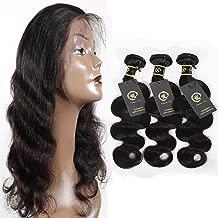 HZSHMM 10A Grade Brazilian Hair Body Wave 3 Bundles 300g 12〞14〞16〞Natural Black 100% Unprocessed Virgin Body Wave Human Hair Weaves Hair Weft Hair Extensions